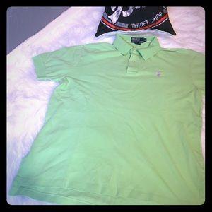 Men's Green Ralph Lauren Polo Collared Shirt